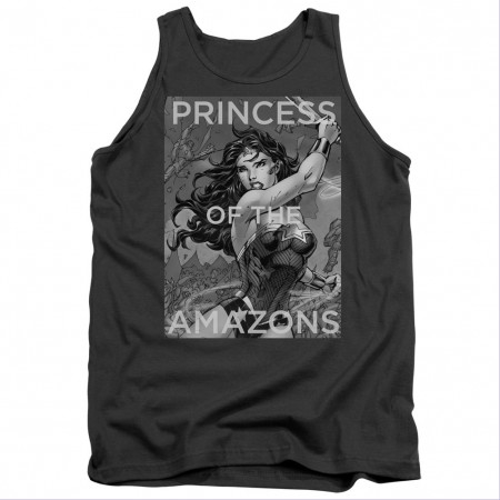 Wonder Woman Princess Of The Amazons Gray Tank Top
