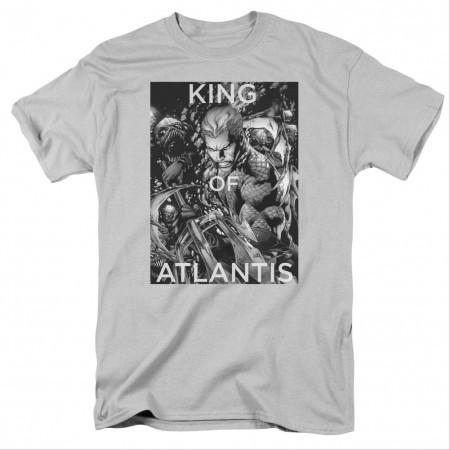 Aquaman King Of Atlantis Gray T-Shirt