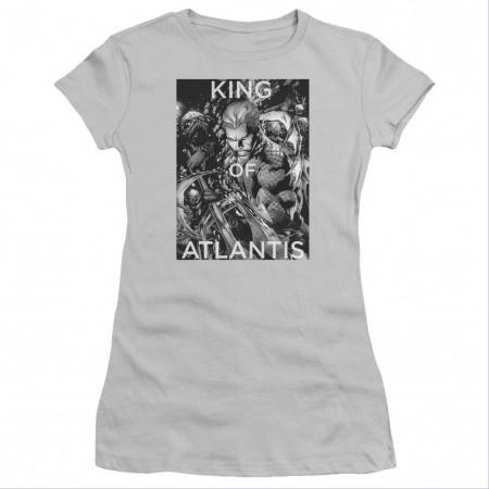 Aquaman King Of Atlantis Gray Juniors T-Shirt