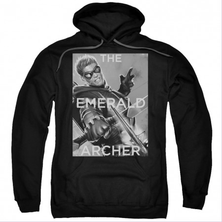 Green Arrow The Emerald Archer Black Pullover Hoodie