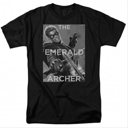 Green Arrow Emerald Archer Black T-Shirt