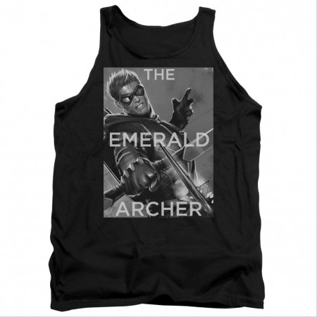Green Arrow The Emerald Archer Black Tank Top