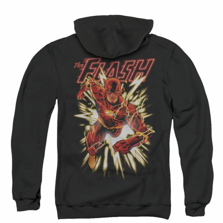 The Flash Glow Men's Black Zip-Up Hoodie