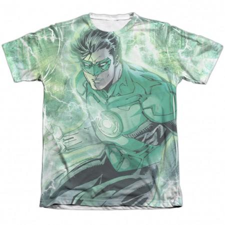 Green Lantern Lightning Sublimation T-Shirt