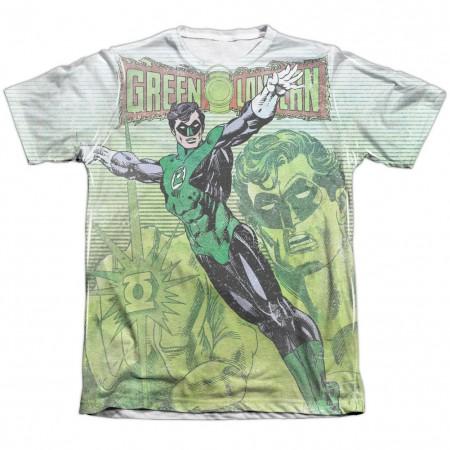 Green Lantern Vintage Leap Sublimation T-Shirt