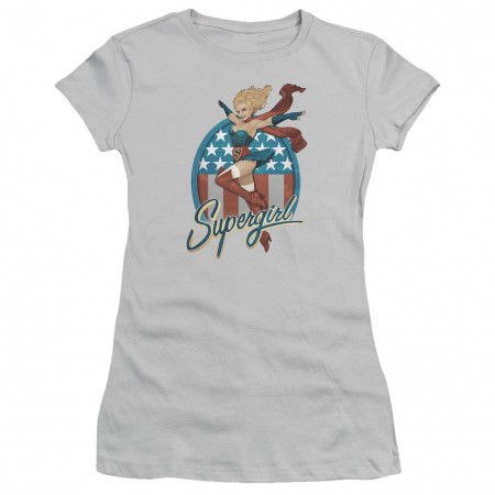 Superman Supergirl Gray Juniors T-Shirt