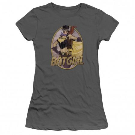 Batman Batgirl Bombshell Gray Juniors T-Shirt