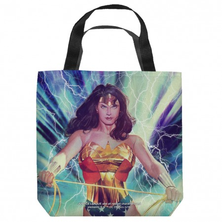 Wonder Woman Stormy Heroine Tote Bag