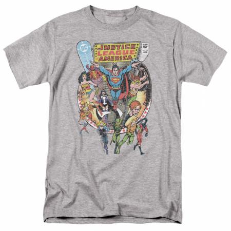 Justice League Heroes Men's Grey T-Shirt