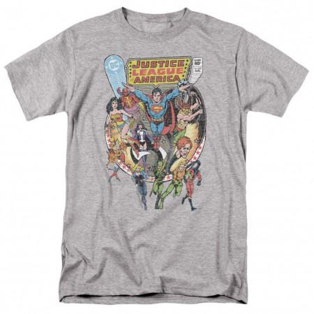 Justice League Heroes Grey Tshirt
