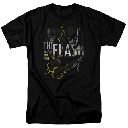 The Flash Fastest Man Alive Men's Black T-Shirt