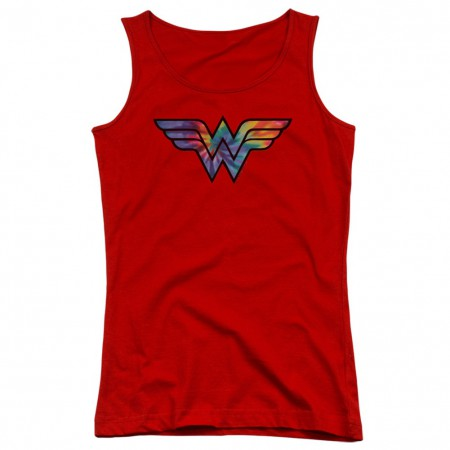 Wonder Woman Tie Dye Logo Women's Tank Top