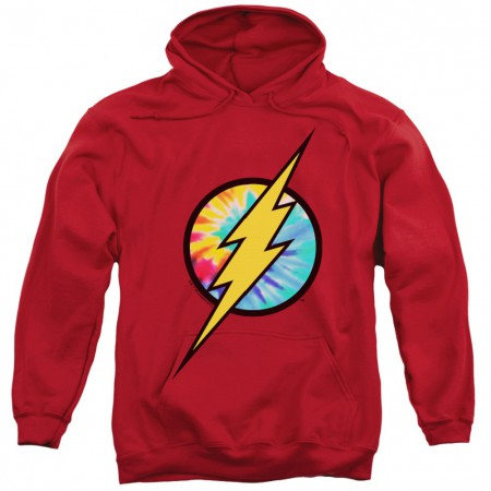 The Flash Tie Dye Logo Red Hoodie