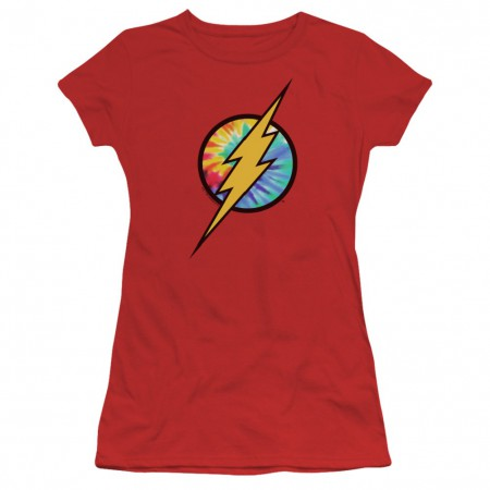 The Flash Tie Dye Logo Women's Tshirt