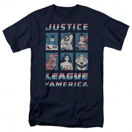 Justice League Hero Boxes Men's Black T-Shirt