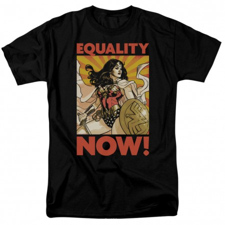 Wonder Woman Equality Now Men's Black T-Shirt