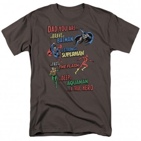 Justice League Dad Is A Hero Men's Grey T-Shirt