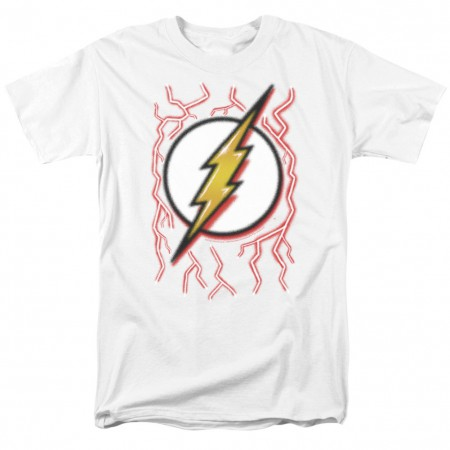 The Flash Airbrushed Logo White Tshirt