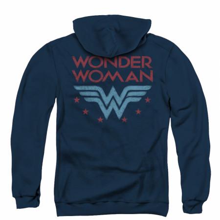 Wonder Woman Logo Zip Up Hoodie