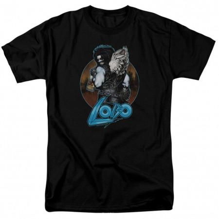 Lobo Gut Rot Men's Black T-Shirt