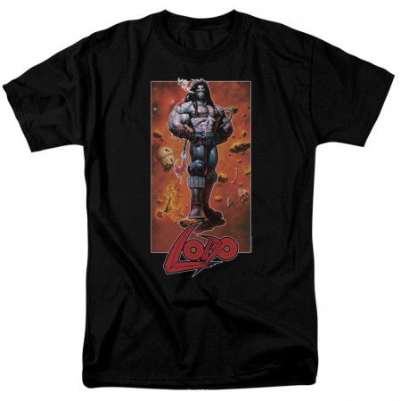 Lobo Pose Men's Black T-Shirt