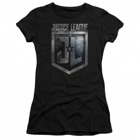 Justice League Logo Women's Black T-Shirt