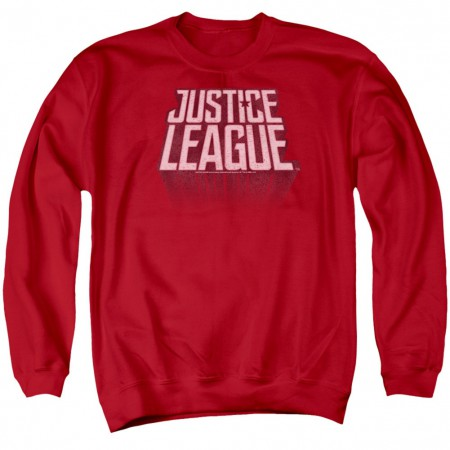Justice League Logo Red Crewneck Sweatshirt