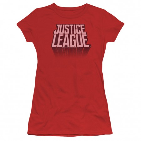 Justice League Logo Women's Red Tshirt