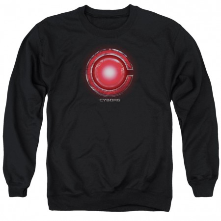 Cyborg Logo Justice League Crewneck Sweatshirt