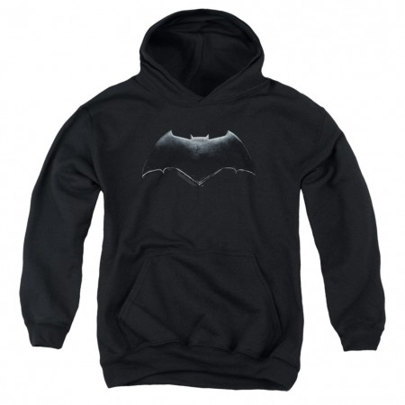 Justice League Batman Logo Youth Black Hoodie