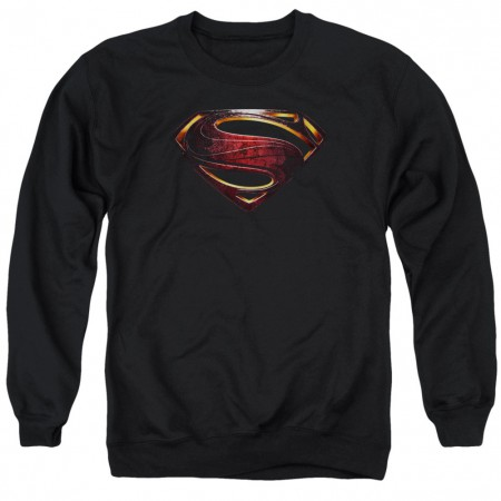 Superman Logo Justice League Crewneck Sweatshirt