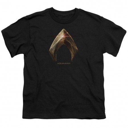 Justice League Aquaman Logo Youth Tshirt