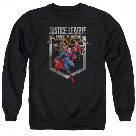 Justice League Heroes Crewneck Sweatshirt