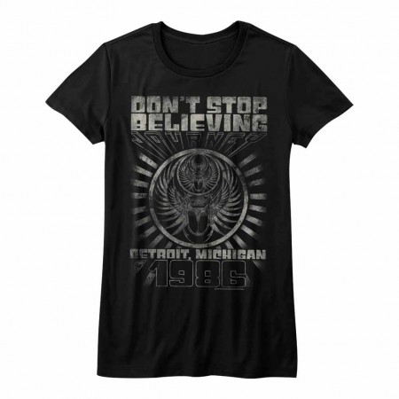 Journey Detroit Womens Black T-Shirt