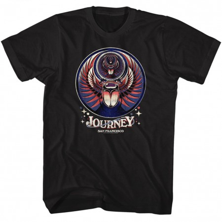 Journey San Francisco Men's Black T-Shirt