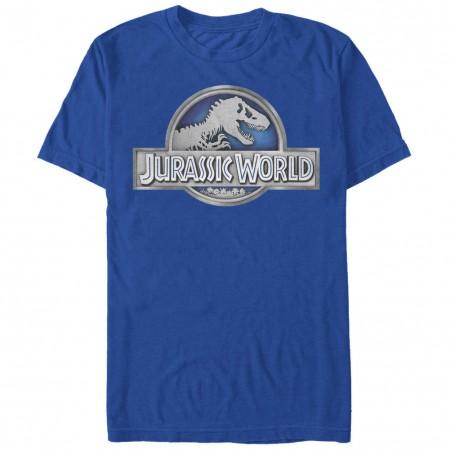 Jurassic Park Basic Logo Blue T-Shirt