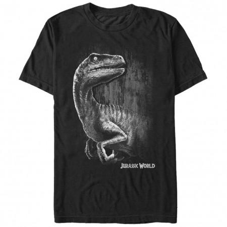 Jurassic Park Raptor Smile Black T-Shirt