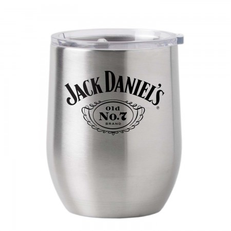 Jack Daniel's 16oz Metal Tumbler Cup With Lid