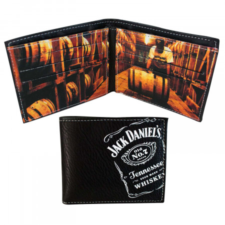 Jack Daniels Old No. 7 Barrels Bifold Wallet