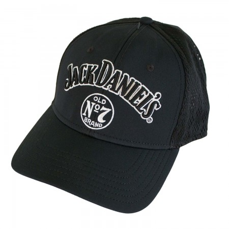 Jack Daniels Black Embroidered Label Hat