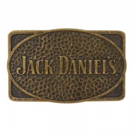 Jack Daniels Brass Dimpled Belt Buckle