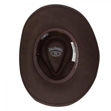 Jack Daniels Soft Wool Brown Water Repellant Hat