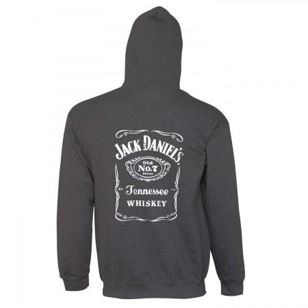 Jack Daniels Charcoal Bottle Label Hoodie