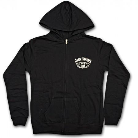 Jack Daniel's Classic Label Juniors Black Hoodie Sweatshirt