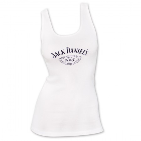 Jack Daniel's Classic No. 7 Women's Tank Top - White