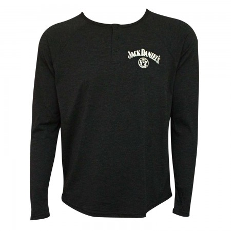 Jack Daniel's Long Sleeve Henley Men's T-Shirt