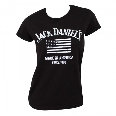 Jack Daniels Women's Black Made In America T-Shirt