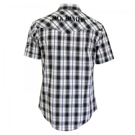 Jack Daniels Plaid Short Sleeve Button Down Shirt