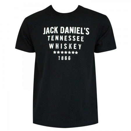 Jack Daniels Tennesee Whiskey 1866 Black Tshirt