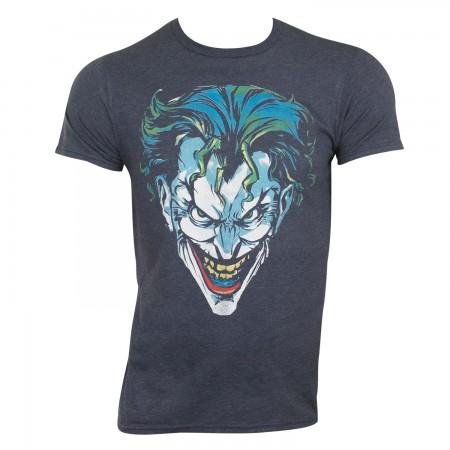 Joker Men's Heather Blue Scowl T-Shirt